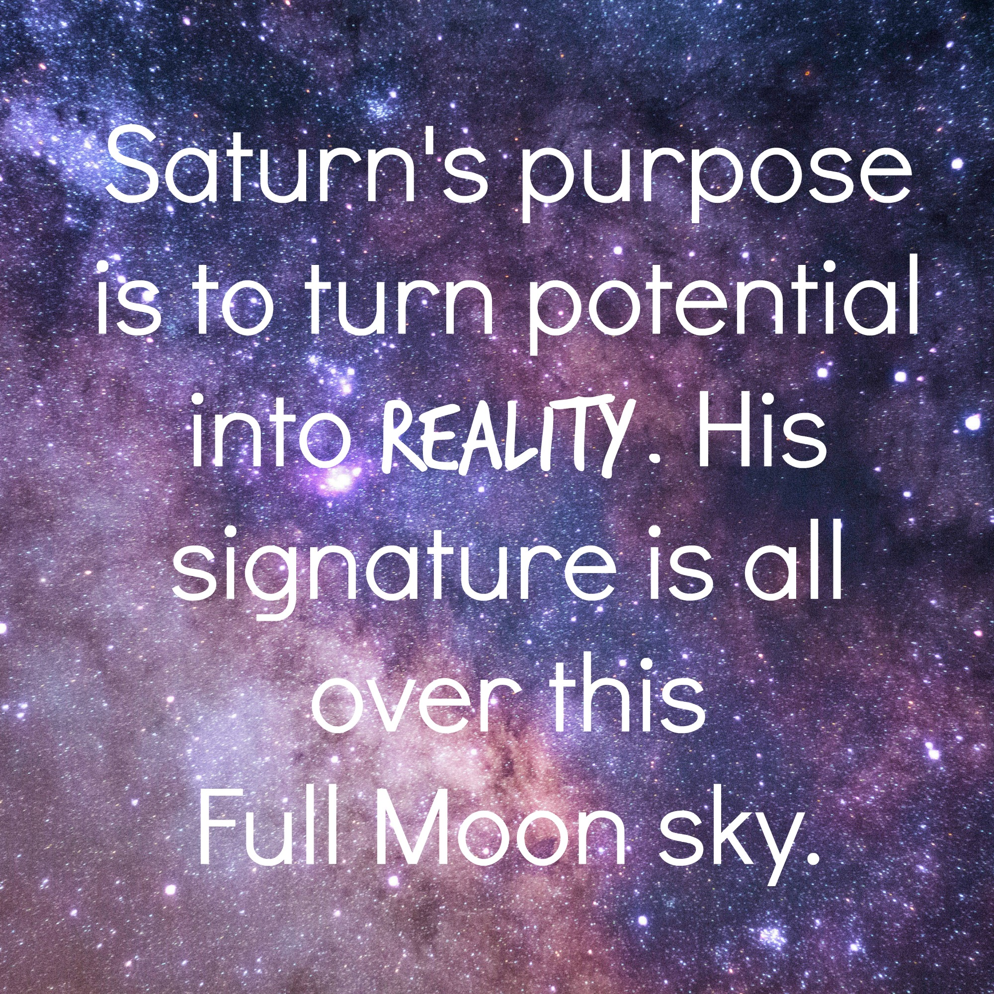Saturn's purpose and astrology