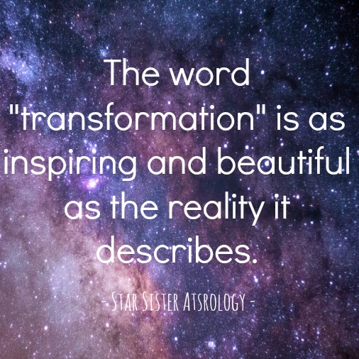 The word transformation is as inspiring and beautiful as the reality it describes